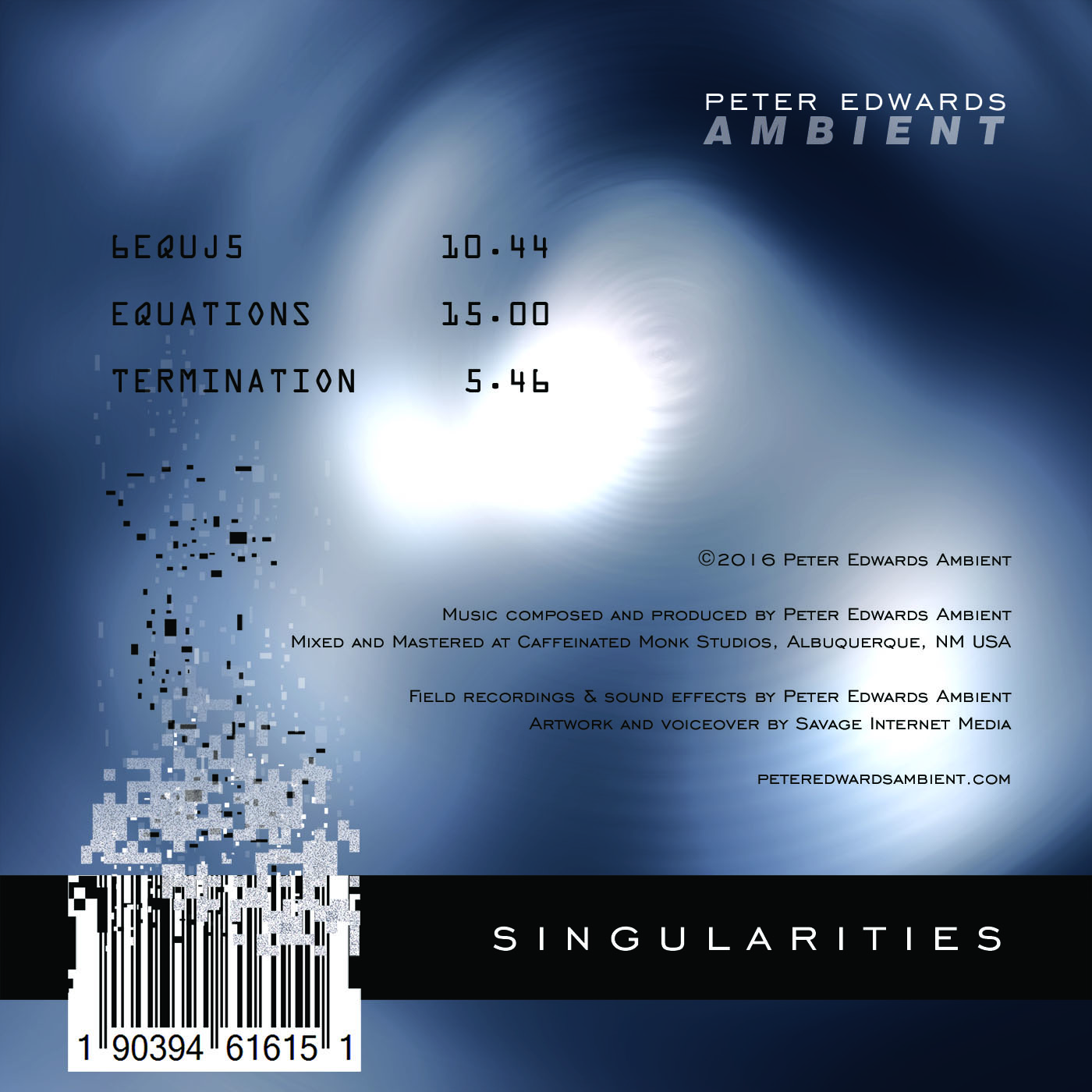 Singularities Back Cover